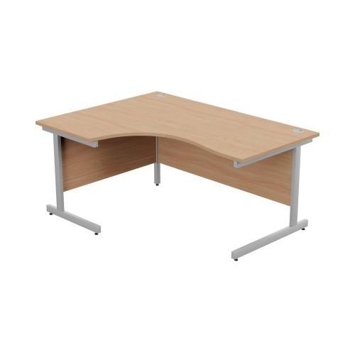 Ashford Metal Leg Crescent Desk