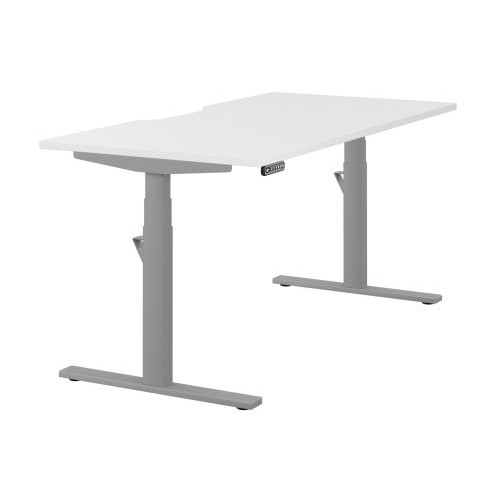 Leap Single Sit Stand Frame and Desk Top with Scallop