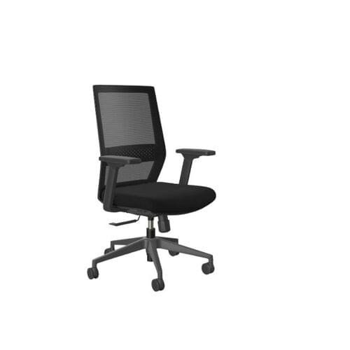 MCC- MESH-ME Chair, Black Base, Black Mesh