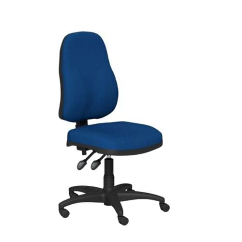 O.A Series H/Back Swivel Nylon Base - Best Blue Fabric
