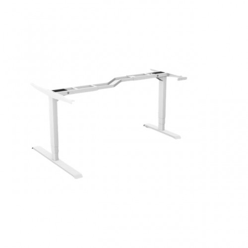 Leap Radial Z 3 Stage Electric Adjust Frame 80/50 595-1245mm w/ Handset & Cable Tray - White