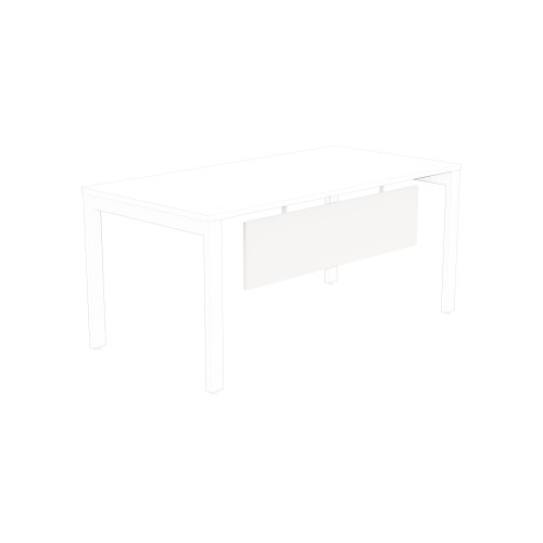 Switch Modesty panel 1300 x 280 (to desktop 1600mm wide) White Panel /White Frame