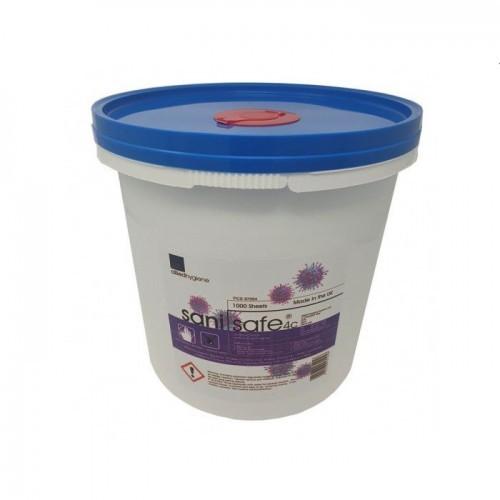 Sanisafe Antibacterial Wet Wipes Tub (1000 wipes)