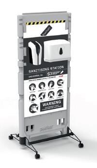 Sterilisable Sanitising Station Single-Sided (Wet & Dry)