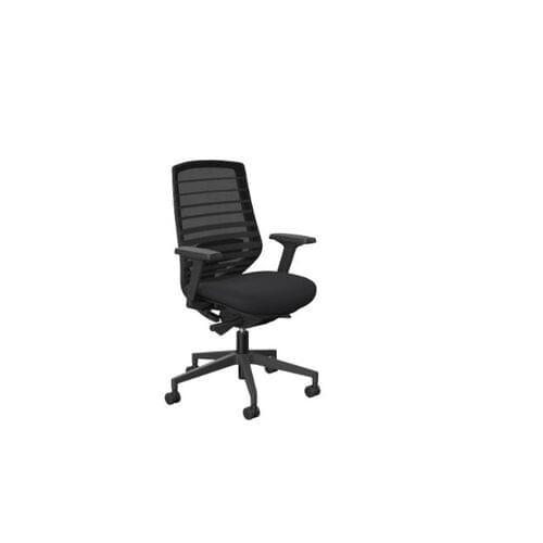 MCC-X.77 Chair, Black Base, Black Mesh