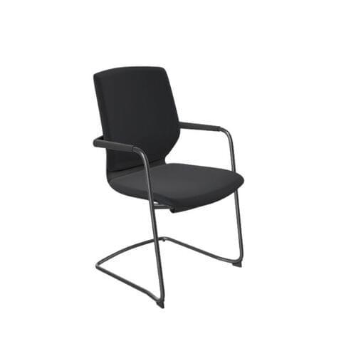 MCC - Y.88 Meeting Chair, Sliding Seat, Black Frame, Black Fabric