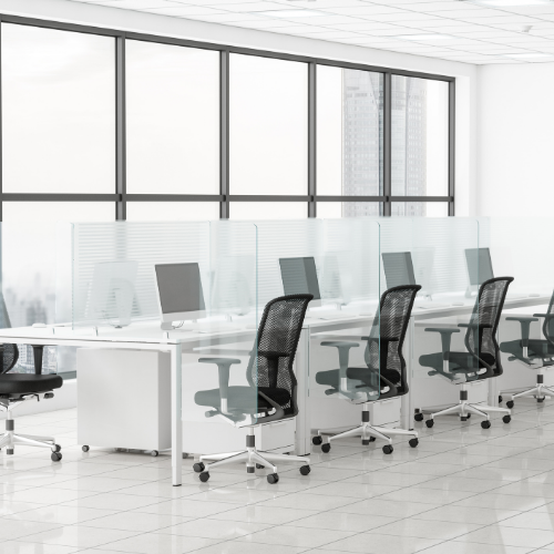 office desks  with dividers