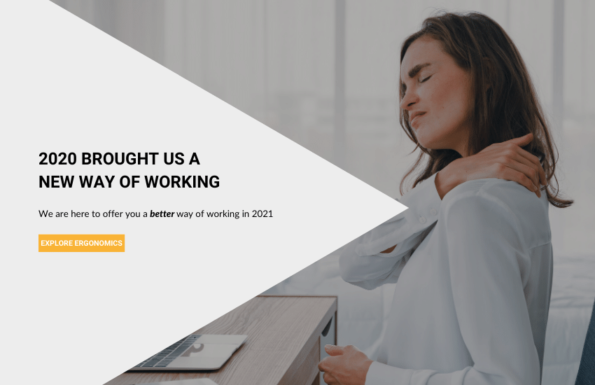 women sitting on her chair in the office experiencing neck pain