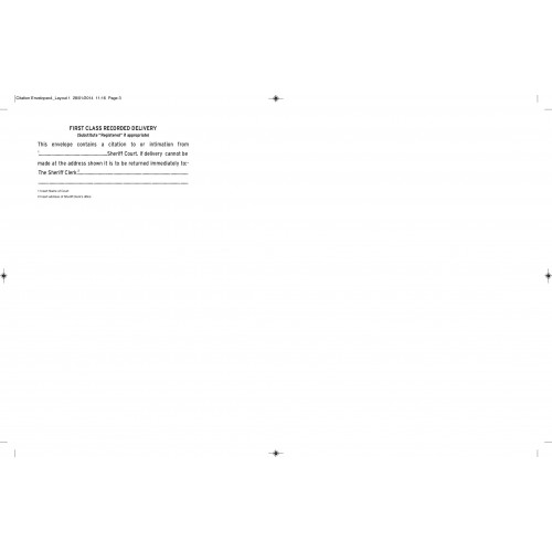 C4 Sheriff Court Envelopes B250