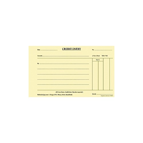 Credit Pads A5 Yellow