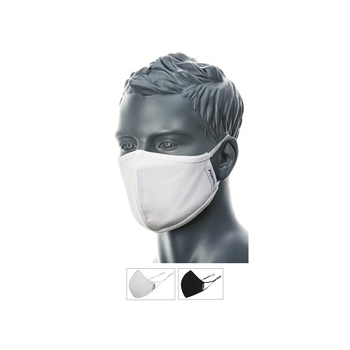 Double Layer Anti-Microbial Fabric Face Mask Black