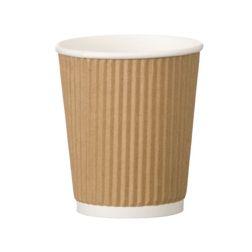 Brown Rippled 12oz Cups PK500