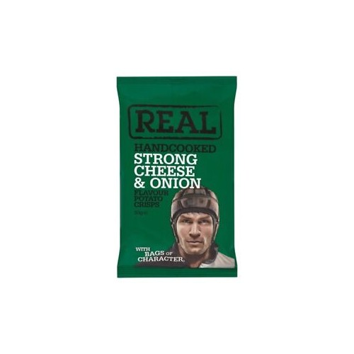 Real Crisps Strong Cheese & Onion 18x50g