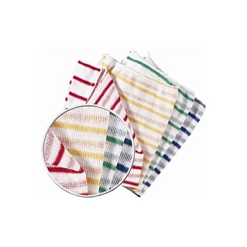 Yellow striped stockinette cloth (10)