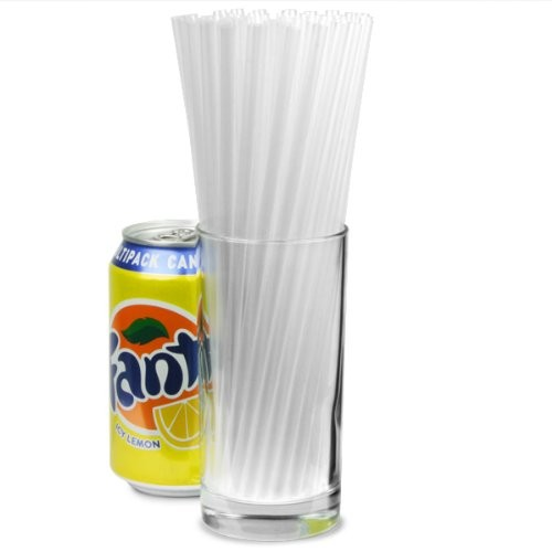 "Jumbo Straight Straws Clear 8"" Bx 500"