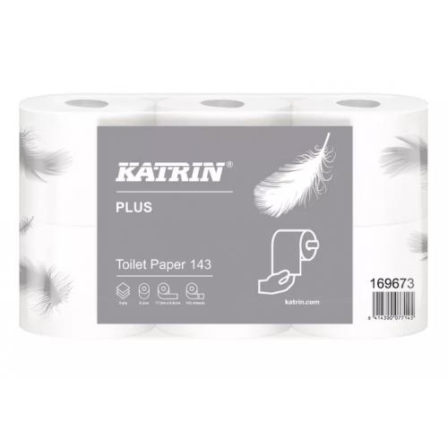 Katrin Plus Toilet 143 Pack 6 Rolls