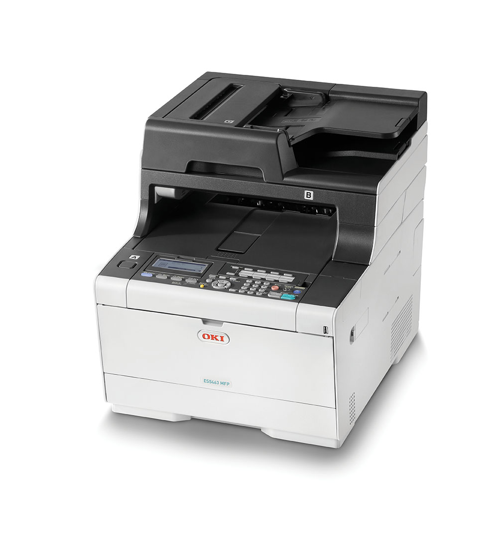 OKI ES5463dn High quality A4 Colour MFP offering solid Security for small workgroups