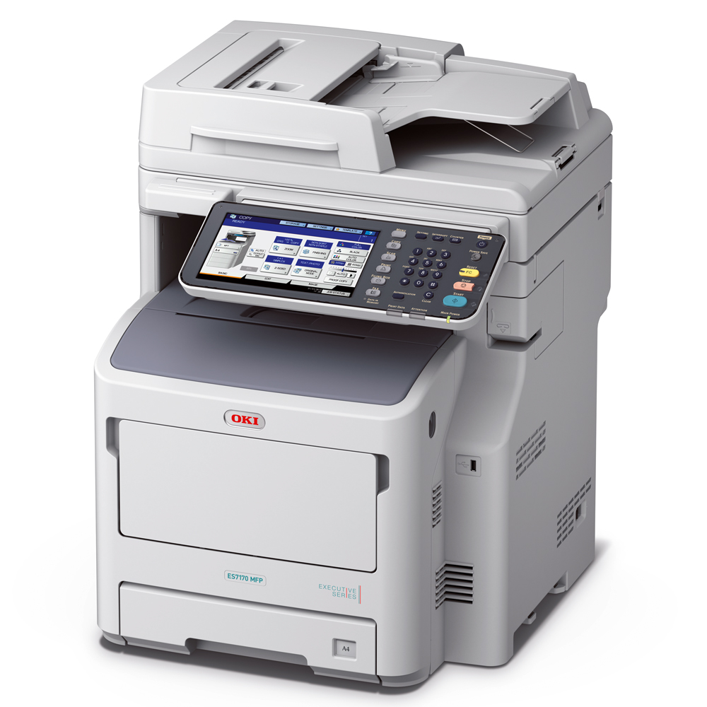 OKI ES7170DN-2AC high-performance departmental and work group A4 multifunction printer with multiple copy, scan and print functions