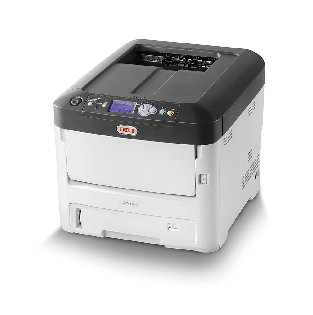 OKI ES7412dn A4 colour printer that gets the job done quickly, reliably and to an outstandingly high print quality.LED Printer