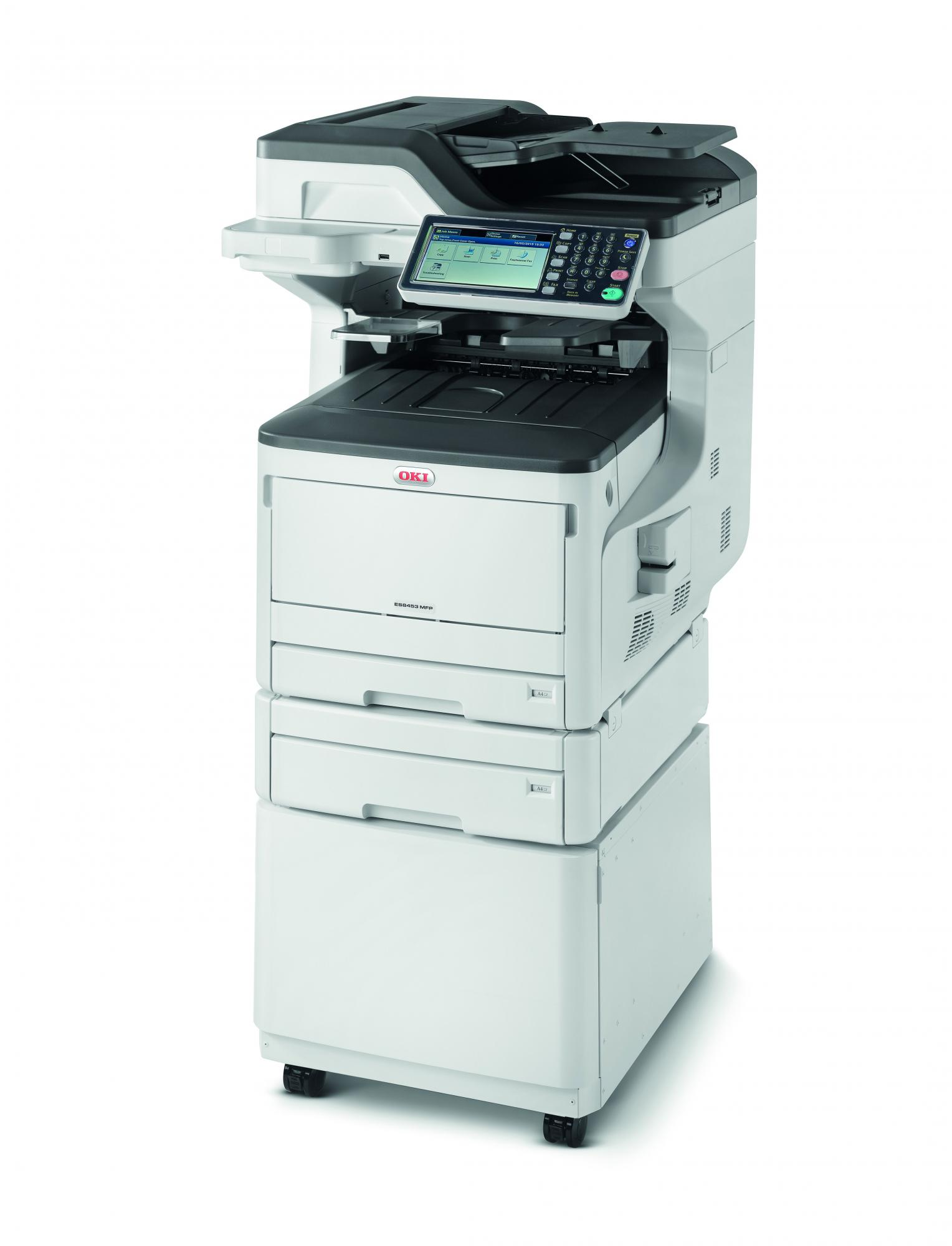 OKI ES8453dnct MFP The versatile smart MFP, simple to use and seamlessly integrated into document workflow