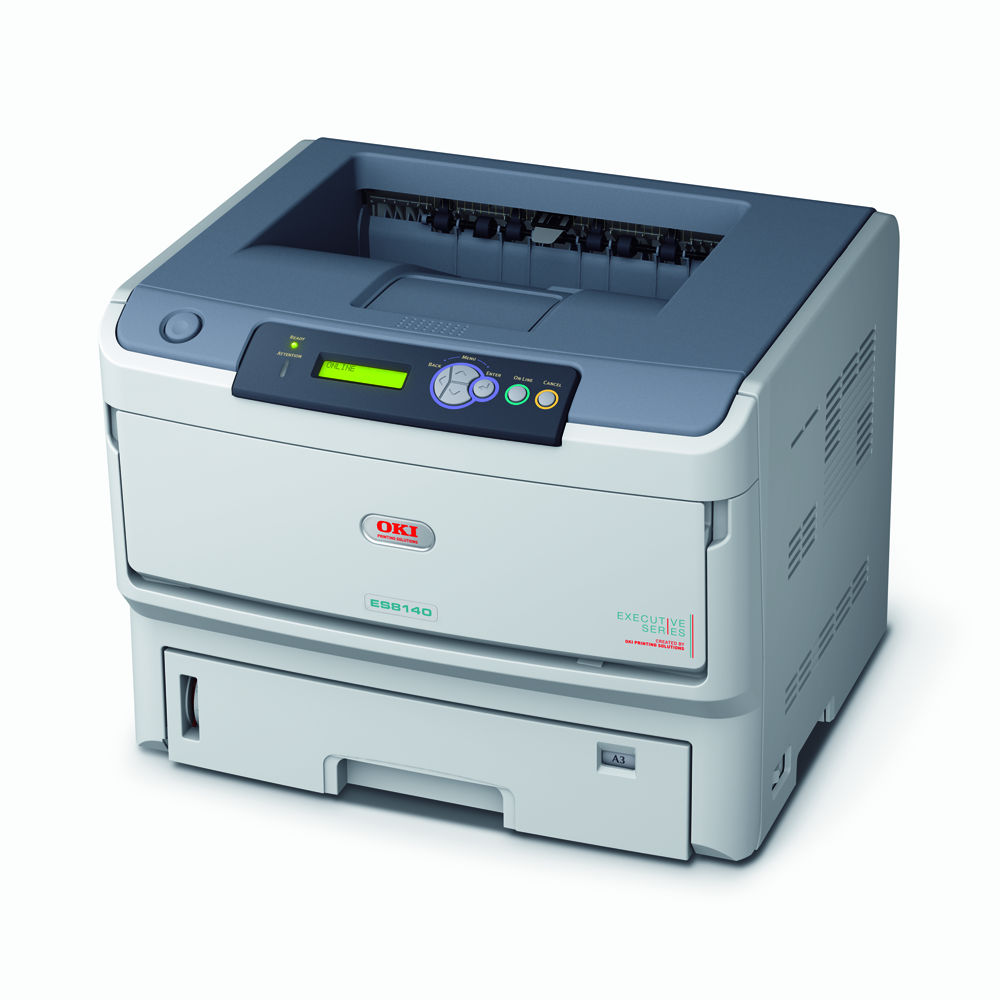 OKI ES8140DN Everything you expect from an A4 mono printer, with the added versatility of A3 format.