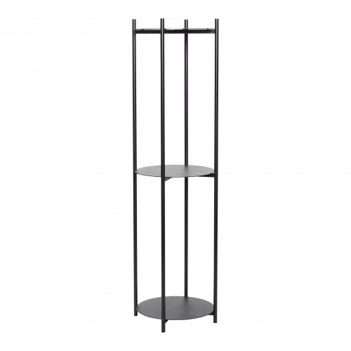 Hubsch Danish Design Shelving unit w/3 shelves, metal, black