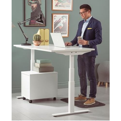 Axel Sit Stand Electric Height Adjustable desk 120 x 80cm Digital control panel with 4 preset memory positions Range from 65cm to 130cm
