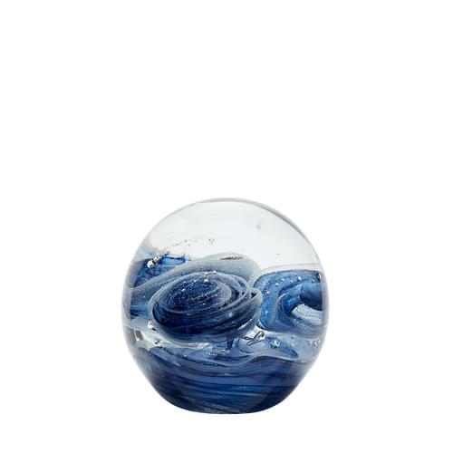Hubsch Danish Design Paperweight, glass, blue
