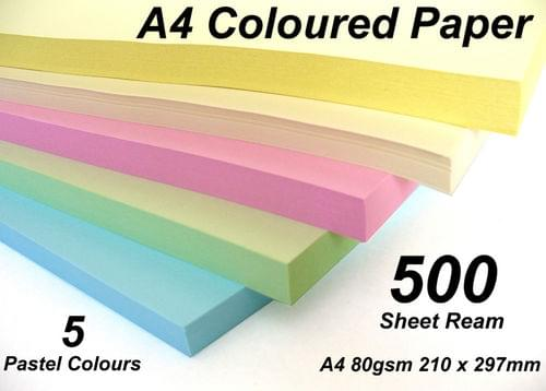 Pale Shade Vanilla/Ivory A4 80gsm Colour Paper 500 Sheets (Ream)