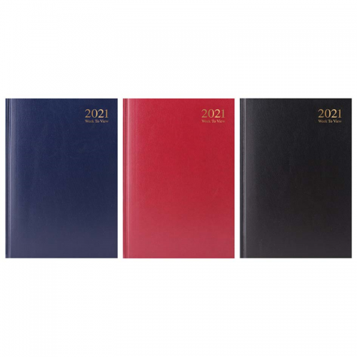 A5 2 Day per page Diary (Assorted Colours)