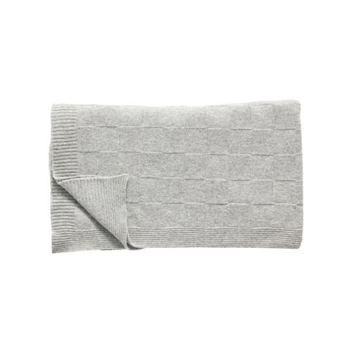 Hubsch Danish Design Plaid w/check pattern, lambswool, light grey