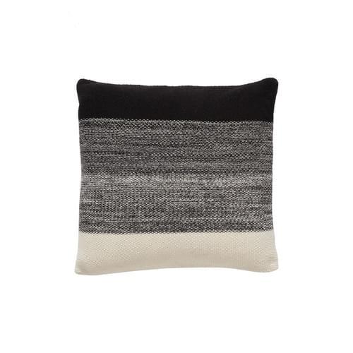 Hubsch Danish Design Cushion w/filler, cotton, black/nature/grey