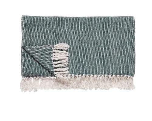 Hubsch Danish Design Plaid, cotton, green/offwhite