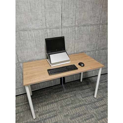 Cherry 1200mm Home Office Desk. Portofino Cherry finish  with white fully welded frame 40mm diameter legs KN612007