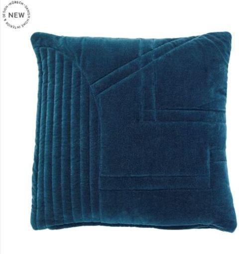 Hubsch Danish Design Cushion w/filler, velour, green