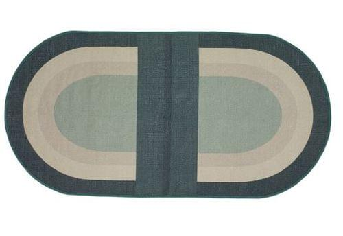 Hubsch Danish Design Rug, woven, recycled yarn, green/sand