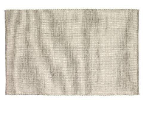 Hubsch Danish Design Rug, woven, cotton, grey/white