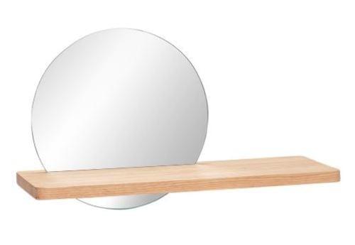 Hubsch Danish Design Shelf w/mirror, nature
