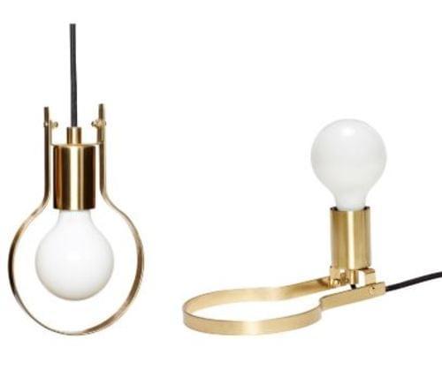 Hubsch Danish Design Lamp/Table lamp, metal, brass