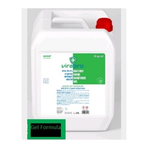 ViraPro Hand Sanitiser Gel clear 5 Litre 70% Alcohol