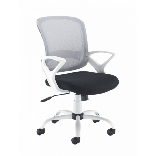 HOME OFFICE SWIVEL CHAIR (White-Black)