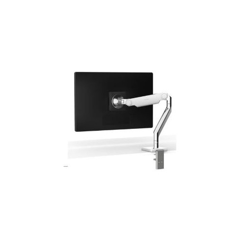 Humanscale M2.1 Single Monitor Arm Polished with White Trim. Allows user to view their monitor(s) at an optimal position.