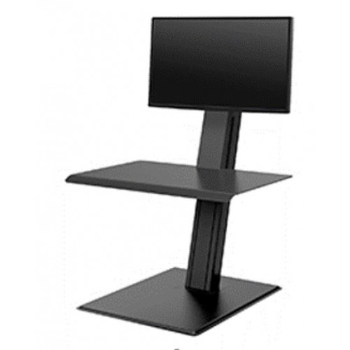 Humanscale Quickstand Eco Single sit/stand workstation. Black. Minimal, compact and portable design Weighted base, Designed to sit on existing work surface