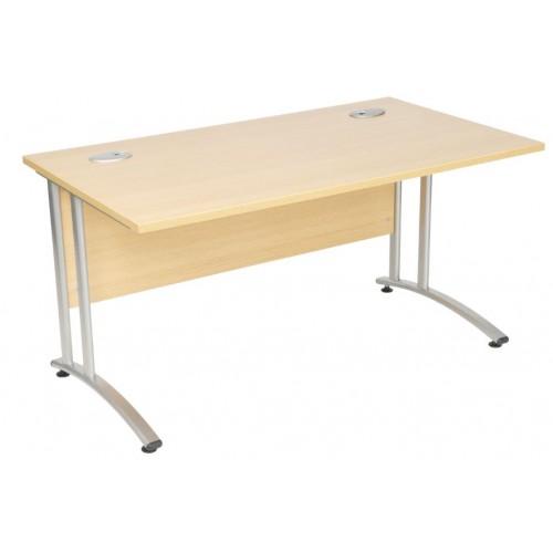 Cantilever Home Office Desk. 1.2m Rectangular Desk with Cantilever Legs W1200 X D800 X H730mm