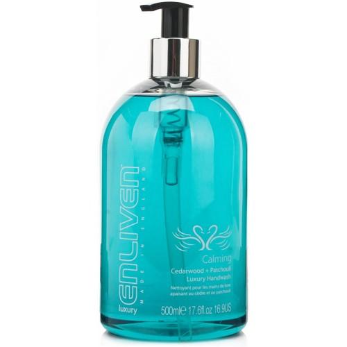 Enliven Luxury Handwash Liquid Soap Calming Cedarwood & Patchouli 500ml