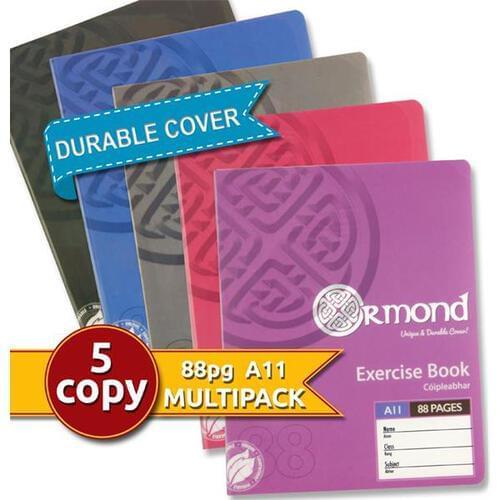 Ormond Pkt.5 A11 88pg Durable Cover Copy Book - Bright