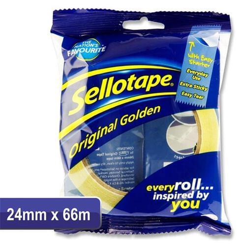 Sellotape 24mmx66m Original Golden Tape