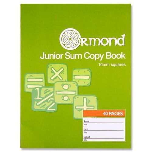 Ormond 40pg 10mm Sq Junior Sum Copy (Pack of 10)