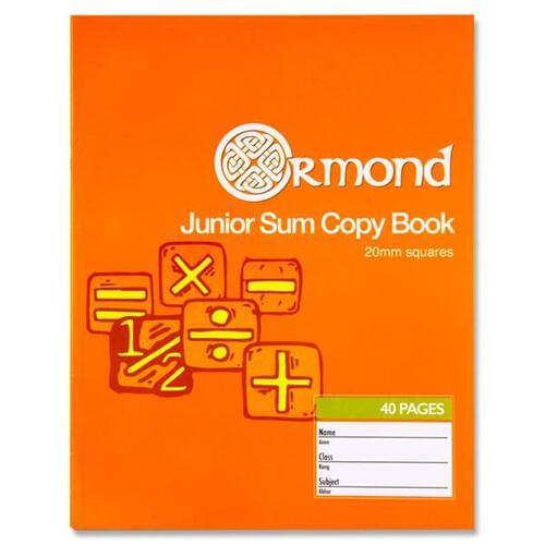 Ormond 40pg 20mm Sq Junior Sum Copy (Pack of 10)