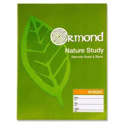 Ormond 40pg Nature Study Copy Book (Pack of 10)